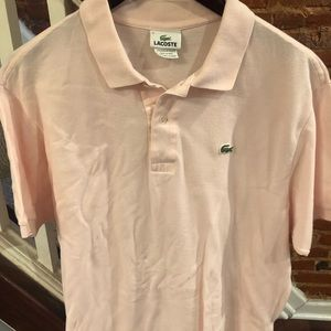 Men's light pink Lacoste polo
